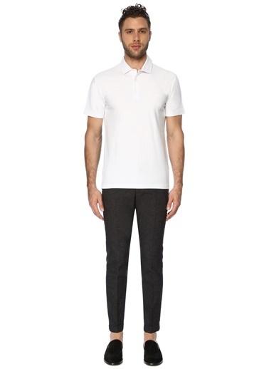 George Hogg Erkek 7003098 Slım Fit Kısa Kol Tshirt Beyaz
